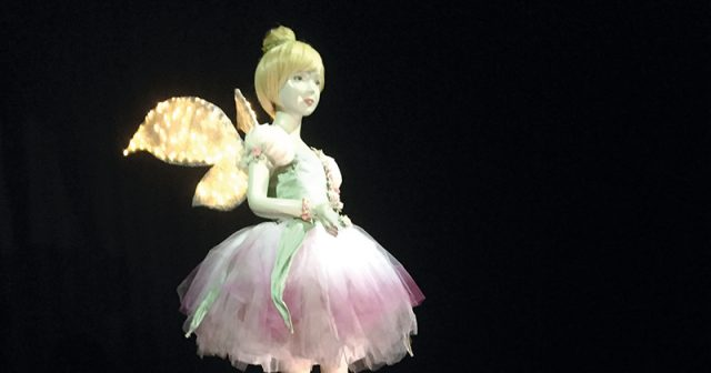 Students create 8ft Tinkerbell to promote local theatre's Christmas panto