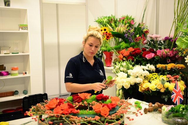 EuroSkills day 2: Intricate design could bag Danielle floristry gold