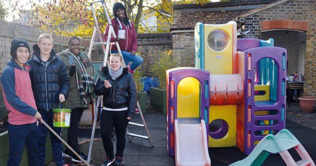 CONEL students rescue community centre playground