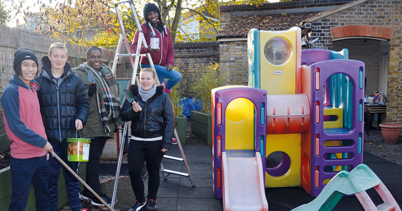 CONEL students rescue community centre playground