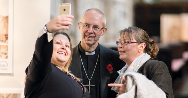 FEATURE: Archbishop of Canterbury gets personal paparazzi