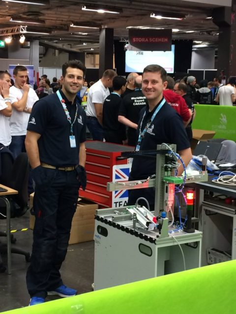 Mechatronics duo Sam Hillier (right) and Thomas Revell (left)