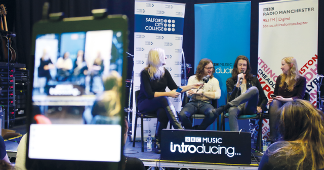 Indie pop band Blossoms perform secret gig for Salford students