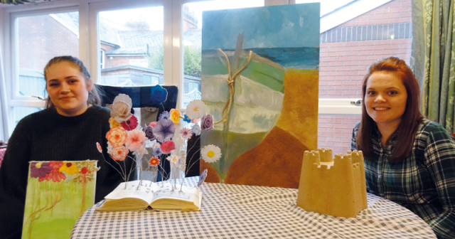 Fine art students create artwork to trigger happy memories in dementia sufferers