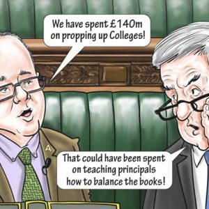 Bailouts for failing colleges reach £140 million says Halfon