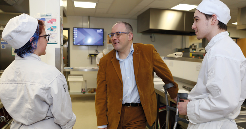 Minister Halfon pays a visit to London's first ever career college