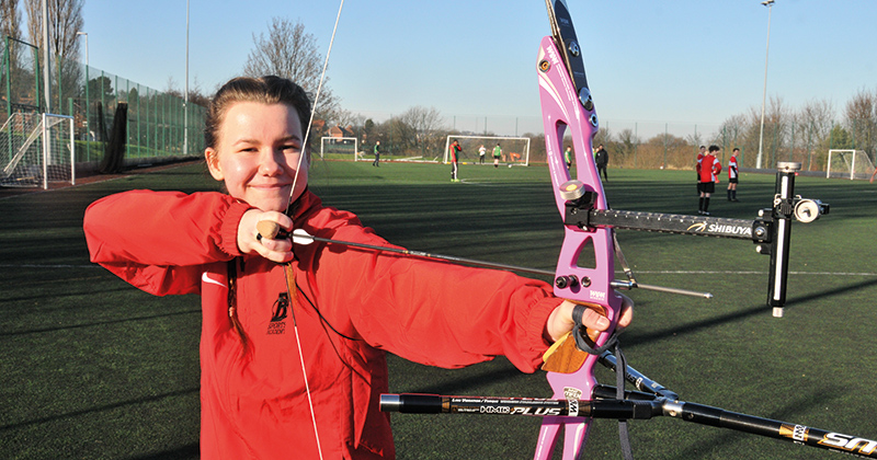 Real-life Katniss tries out for the Great British archery team