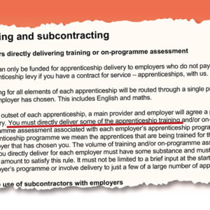 Colleges welcome new apprenticeship subcontracting rules