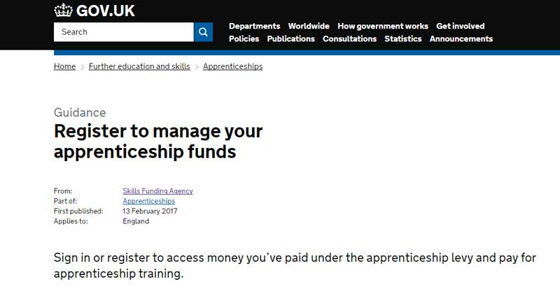 Breaking: Online apprenticeship service registration opens