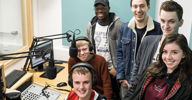 Comedy star returns to college to impart wisdom to aspiring media students