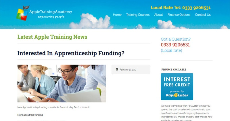 Company shuts down just days before SFA gives them green light for apprenticeship delivery
