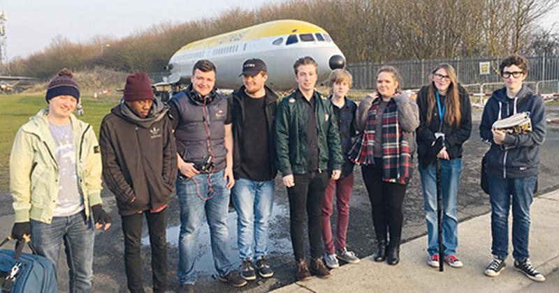 Rare passenger plane is backdrop for student horror film