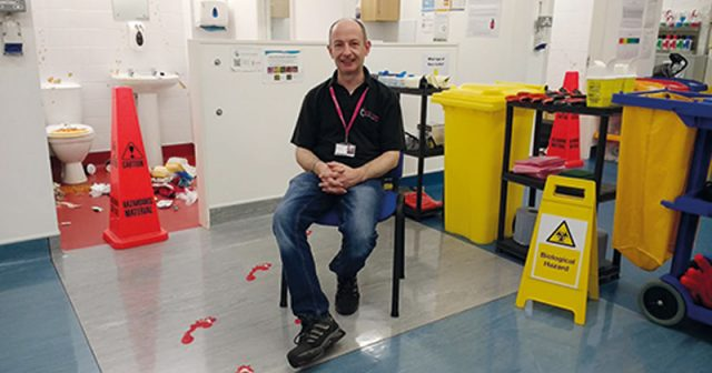 Biohazard cleaning lecturer awarded medal for excellence for his quirky teaching methods