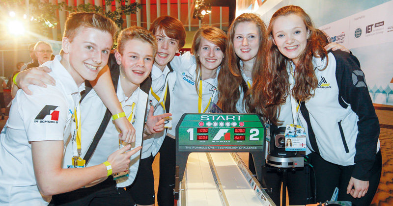 Formula 1 challenge pits apprentices against school pupils