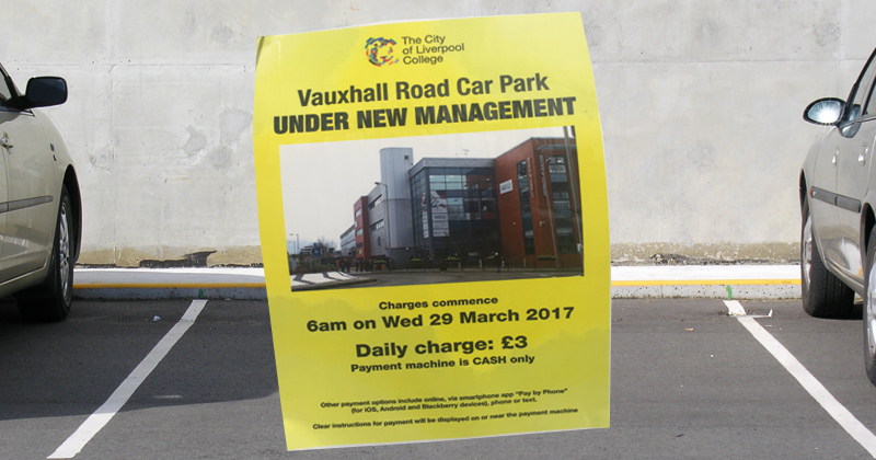 Staff anger at cash-strapped college's new carpark charge