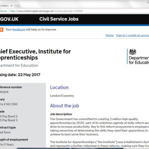 Chief executive role for new IfA finally advertised