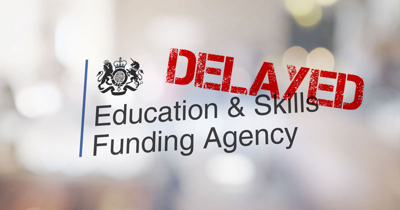ESFA to delay non-levy tender contracts as complaints mount up