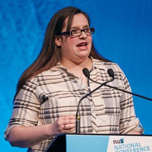 Emily Chapman, vice president for FE, NUS