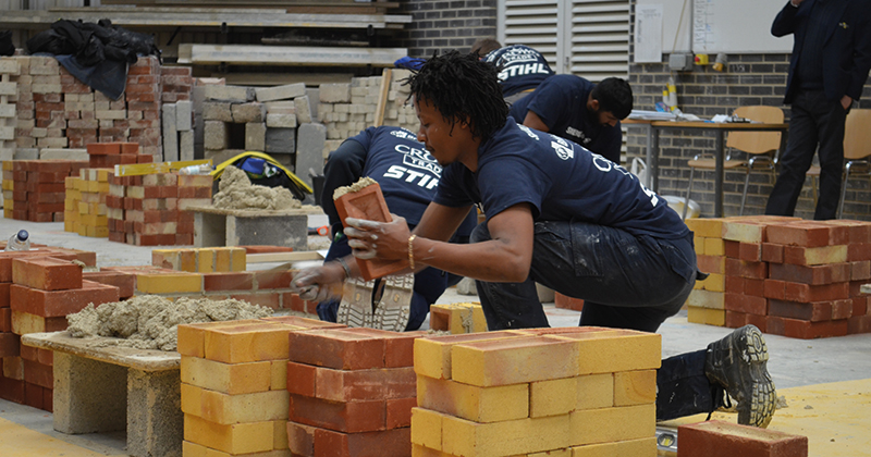 Construction trainees battle it out for a place in national SkillBuild competition