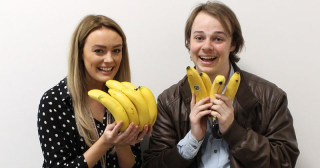 Student council distributes free bananas to local schools