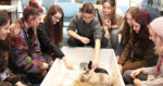 Chaplain hosts monthly animal café in college coffee shop