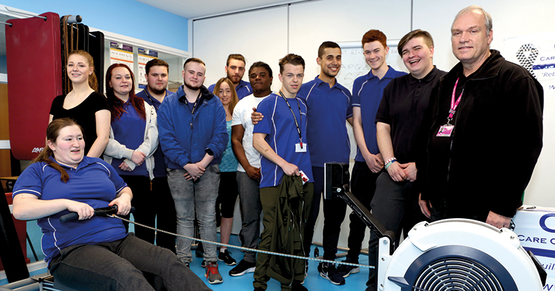 Public services students complete 24-hour rowing challenge for fallen police officers