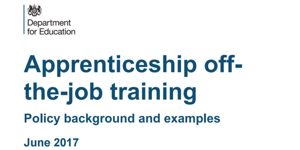 DfE publish long awaited off-the-job training guidance