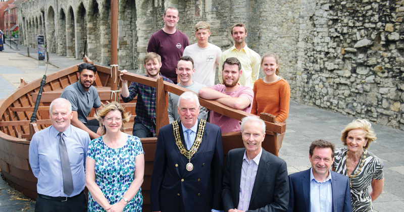 Replica Viking boat is restored by boat-building apprentices