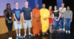 Pair of Buddhist monks teach staff and students the history of Buddhism