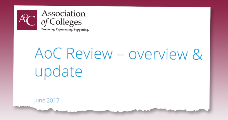 Association of Colleges restructure plans approved