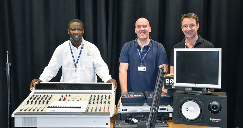 College donates radio equipment to remote Gambian village