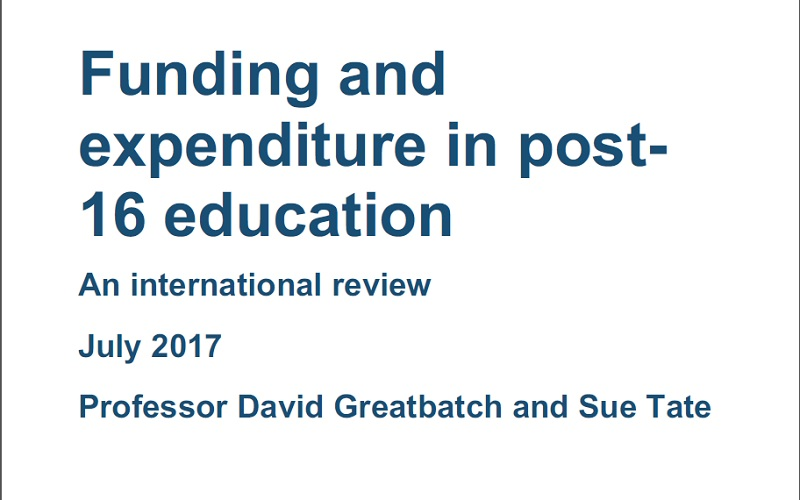 DfE report into foreign skills provision omits funding comparisons with England