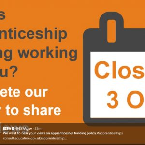 DfE launches its FIFTH consultation on apprenticeship funding reform