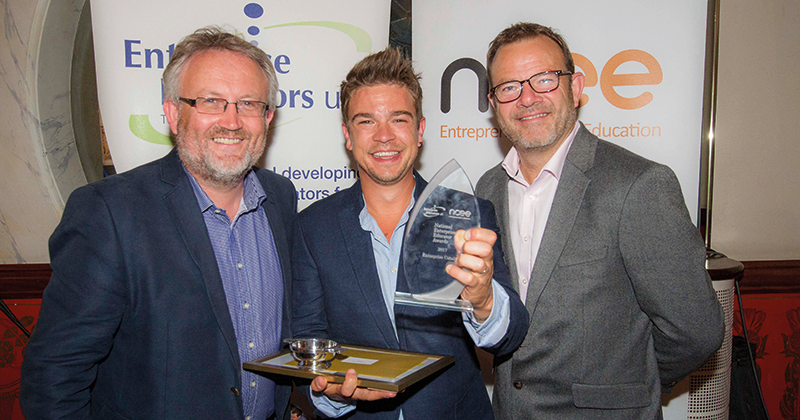 Founder of student-run games studio wins top title at National Enterprise Educators Awards