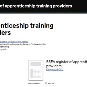 Review of apprentice provider list planned