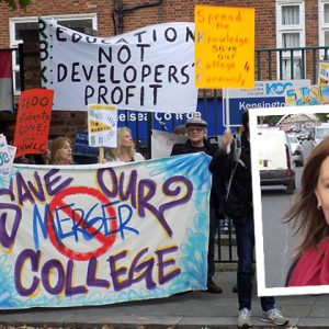 Kensington MP lends weight to college survival campaign