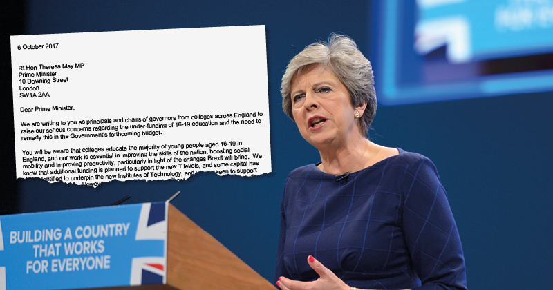 College leaders beg Theresa May for more 16-to-19 funding