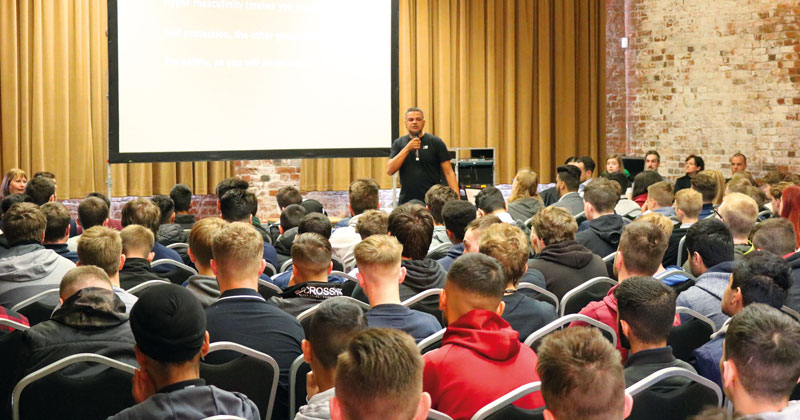 Protective services students organise conference on dangers of knife crime at their college