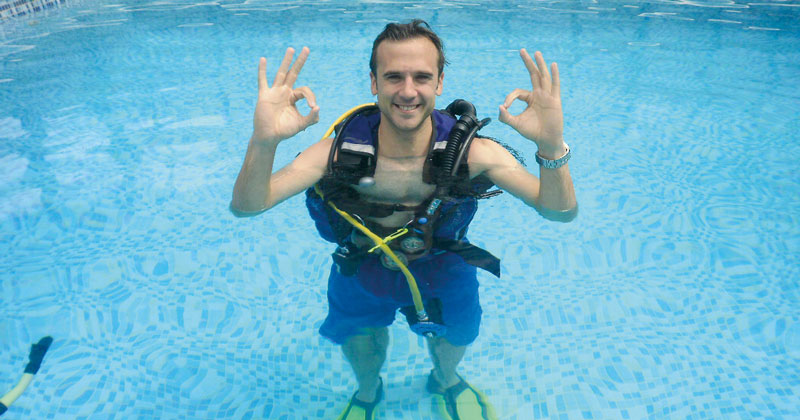 Scuba diving added to college's enrichment offer