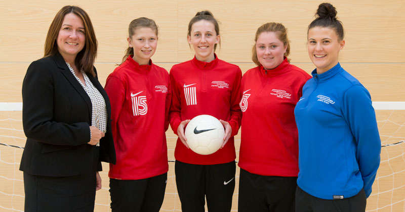 College referee campaigns to get more women into football