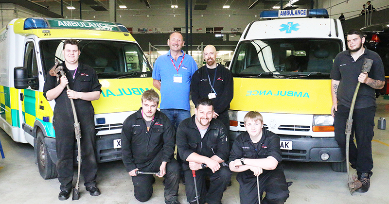 Aspiring motor vehicle engineers renovate two ambulances ready for 3,000 mile trip to west Africa