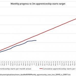 Revealed: 3 million apprenticeship target slipping away