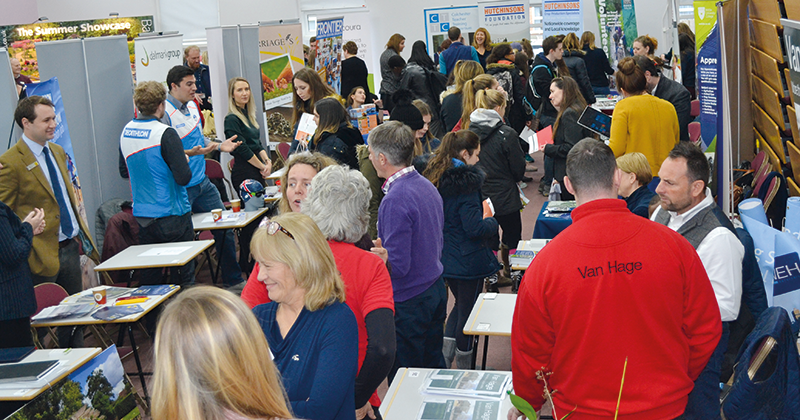 Citrus fruit suppliers and Europe's largest equine hospital exhibit at careers fair