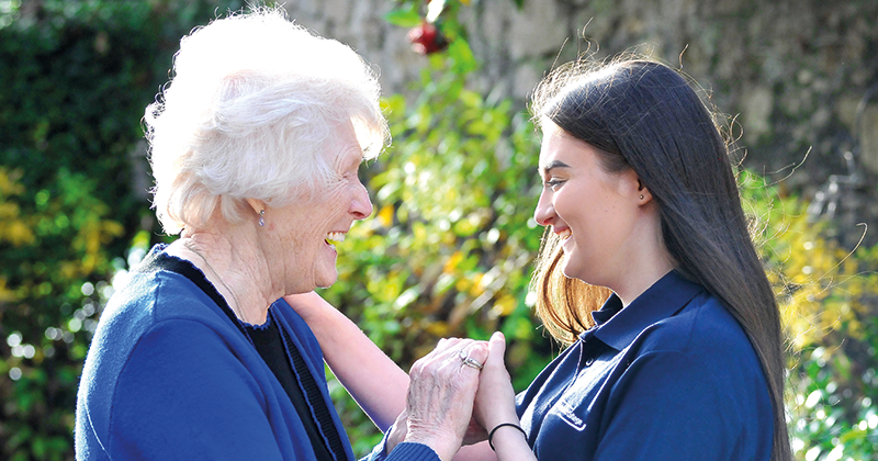 Students paired with the elderly as part of T-level work placement pilot