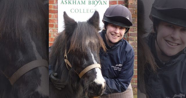 Agricultural college takes in a rescue horse for the very first time