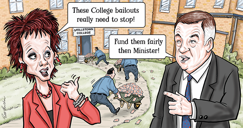 FE Commissioner's annual report encourages colleges to use £700m bailout fund while they can