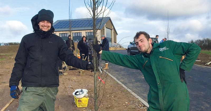 Horticulture students line Leicestershire rehabilitation centre driveway with trees