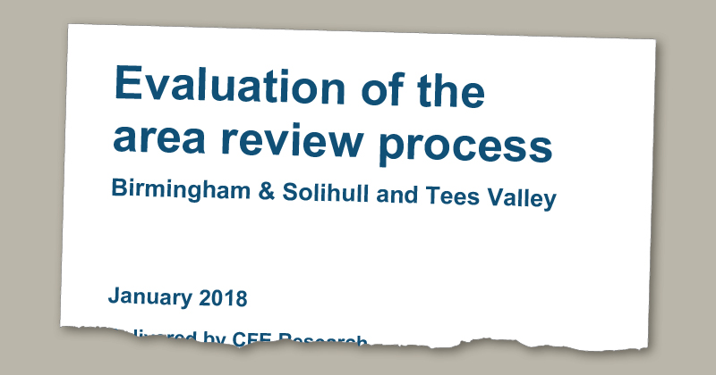 Area reviews mishandled early on, DfE research concludes
