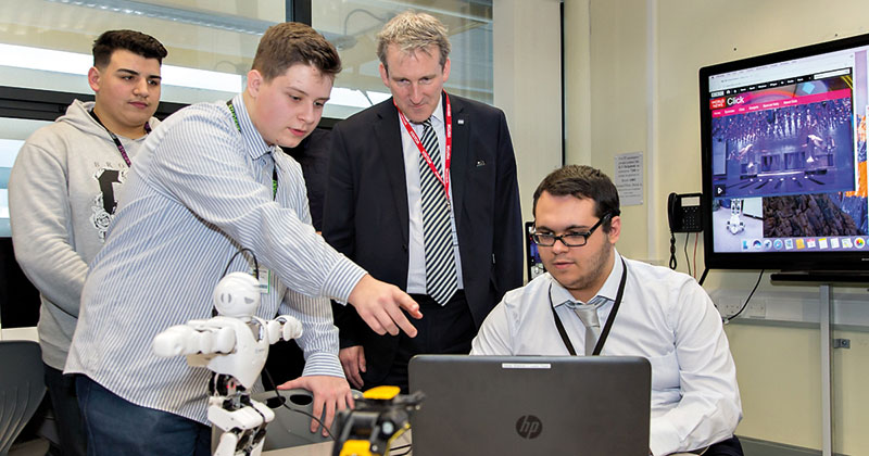 Education secretary makes first official visit to FE college