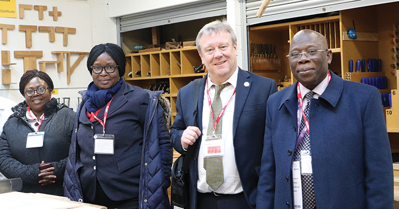 Ghanaian ministers visit UK college to learn about vocational education